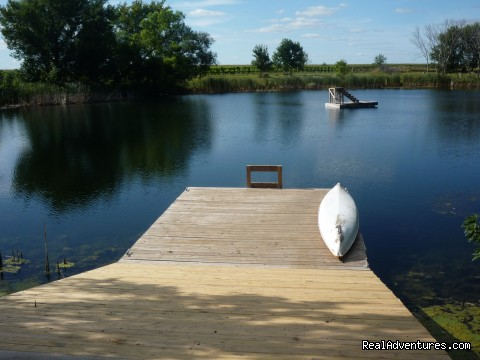 Dock and diving platform - InnSpiration Bed & Breakfast- A Country Getaway