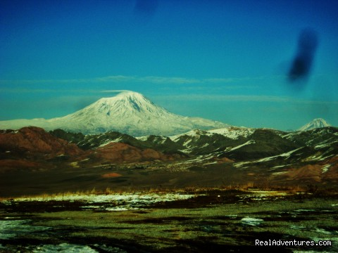 Ararat from long distance - Trekking Ararat,Ararat Expedition,Ararat Ski tours
