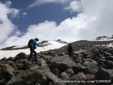 Ascent to Camp 2 - Trekking Ararat,Ararat Expedition,Ararat Ski tours