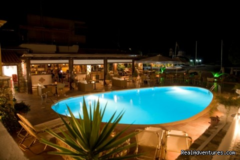 restaurant pool bar -  Discover Agistri island for romantic holidays