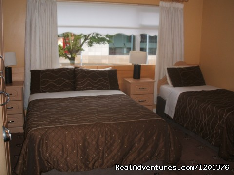 One of our Bedrooms - Approx a 7 minute drive from the Airport