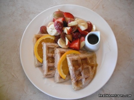 Breakfast-Waffles - Cornerstones B&B