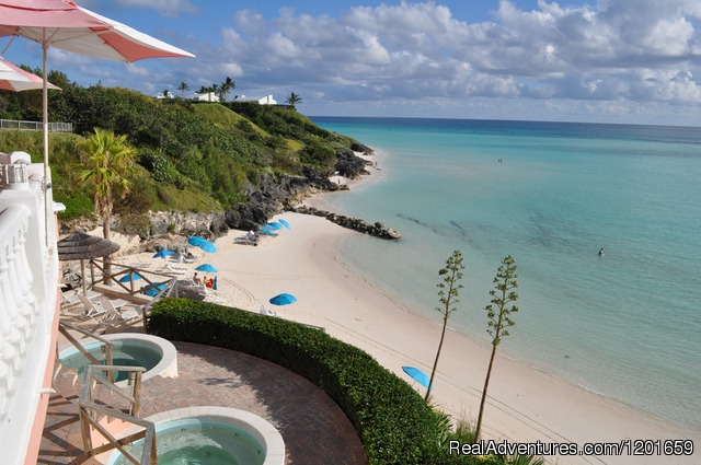 Two cliffside jacuzzis - Pompano Beach Club