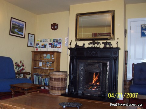Guset Lounge with real turf fire - Buttermilk Lodge, Connemara Home from Home