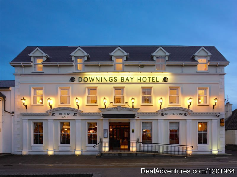 The Downings Bay Hotel is a modern 40 bedroom hotel set in beautiful Donegal. Ideally located along the Wild Atlantic Way this recently redecorated family hotel is open all year and is happy to provide complementary parking and Wifi to all guests.