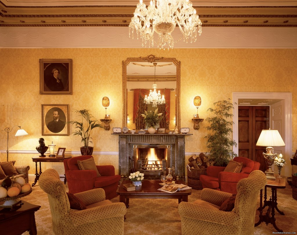 Drawing Room & welcome Fire | Image #7/20 | Longueville House Hotel & Sporting Estate