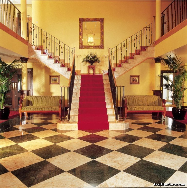 Roganstown Hotel & Country Club is a beautiful country house hotel, near Dublin Airport,  offering luxury 4 star accommodation in spectacular surroundings. There is a superb restaurant and bars, state of the art  leisure centre and SPA and our own ch