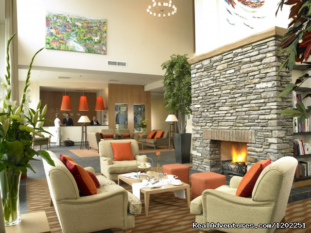 Sneem Hotel Lobby with Open Fire - Sneem Hotel & Apartments