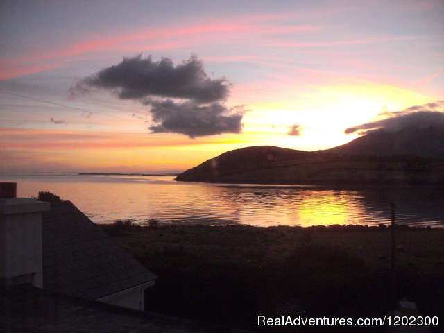 Sunrise in Cloghane - view from Guesthouse - Walking and relaxing breaks O'Connor's Guesthouse