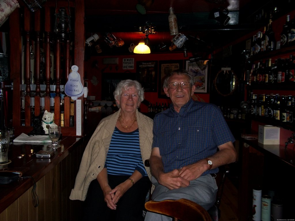 Returning guests enjoying a drink in our bar | Image #25/25 | Kylemore Pass Hotel