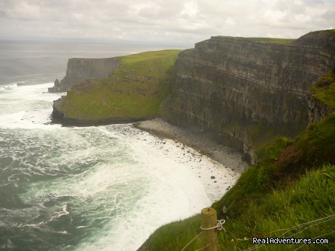Cliffs of Moher looking to Aran Islands - Rathbaun Hotel