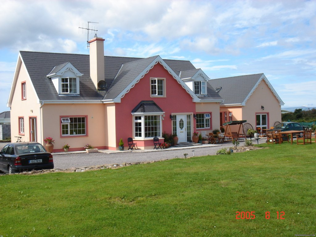 We are family run bed and breakfast,  five minutes walk from the beach.