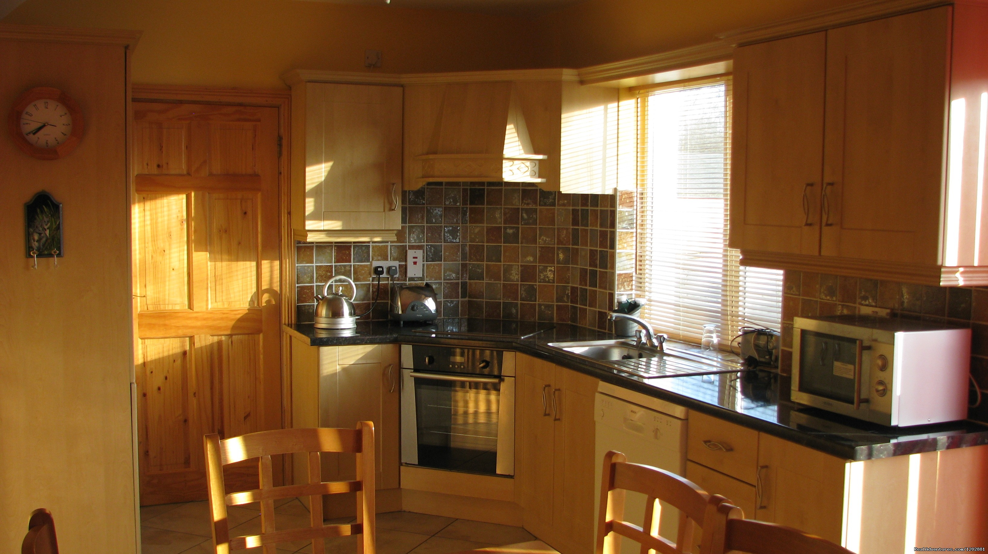 Riverside self-catering kitchen