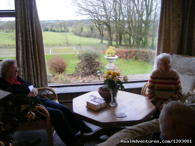 Relax over a nice cup of tea - Relax, unwind on our organic farm Lough Owel Lodge
