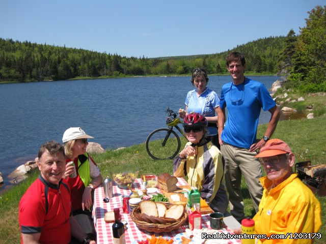 Freewheeling's picnics are legendary - Cycle the Cabot Trail with Freewheeling Adventures