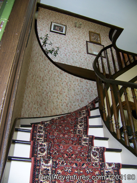 Curved staircase - Bideford Parsonage Museum