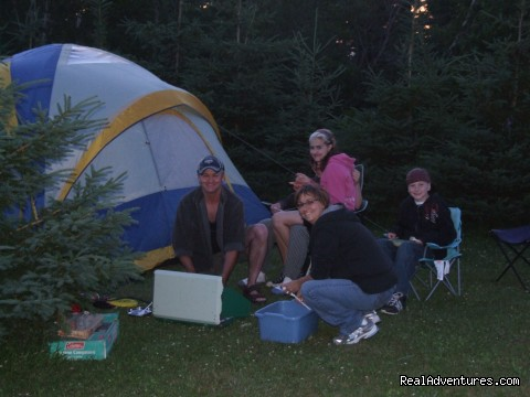 White Sands Cottages and Campground Resort: Tenting at White Sands Campground in PEI near Cavendish