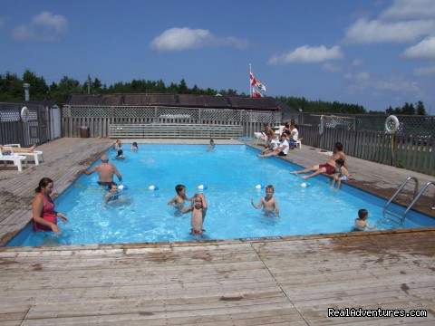 Inground heated pool at White Sands Cottages - White Sands Cottages and Campground Resort