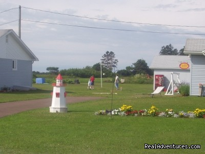 Flower Bed and Lighthouse  - St. Lawrence Motel - HSK Suites