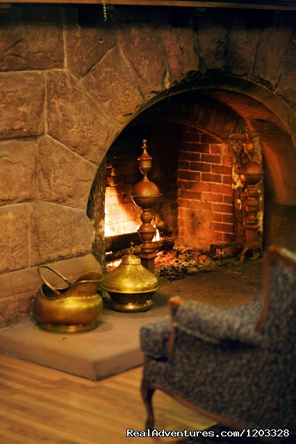 Main Inn Fireplace - Dalvay by the Sea Inn & Dining Room