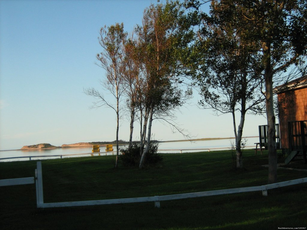 Five executive cottages on secluded oceanfront property on north shore of Prince Edward Island. Unbelievable view of the sand dunes and ocean from the deck of each cottage. Minutes from downtown Charlottetown and golf courses.