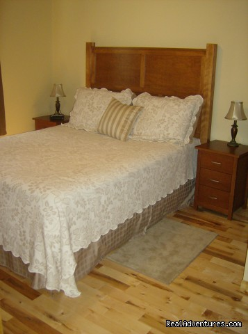 Bedroom Downstairs Right - Stanhope Cottages Luxury Cottages PEI