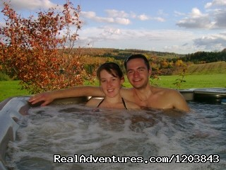 Year Round Hot Tub at Bonshaw Breezes B&B - Bonshaw Breezes B&B