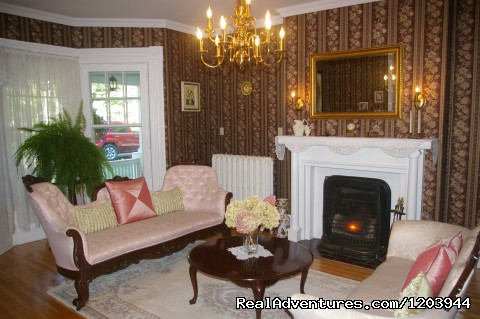 Guest livingroom area with gorgeous upright piano... - The Dawson House... Truly intriguing