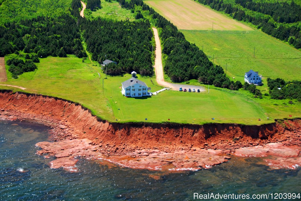 Aerial view | Image #1/6 | Souris, Prince Edward Island  | Bed & Breakfasts | Sunrise & sunset water views at Johnson Shore Inn