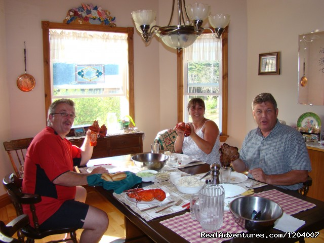 Lobster night at Blueberry Cove - Blueberry Cove Bed & Breakfast