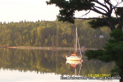 Sunrise on the Montague River - Three Gables Waterfront Carriage House