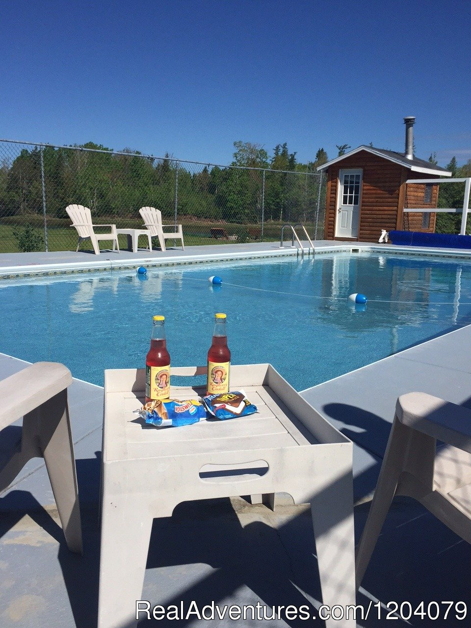 Heated Pool with deep end | Image #2/9 | Amazing waterfront cottage resort  Ocean Acres
