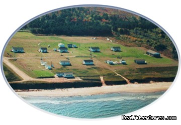 Ariel View - Warren's Beachfront Cottages