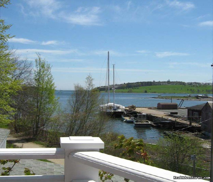 View from Bedroom Balcony | Image #3/22 | Boatbuilder's Cottage - in Historic Lunenburg