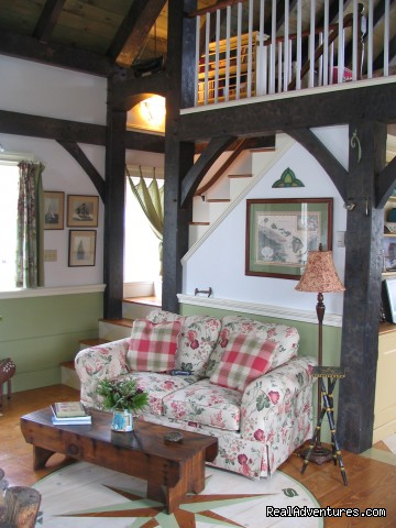 Living Room - Boatbuilder's Cottage - in Historic Lunenburg