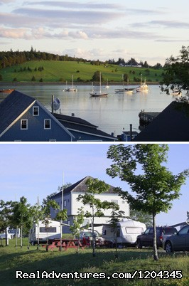 Front Harbour view and Visitor Centre - Lunenburg Board of Trade Campground