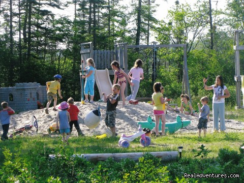 Kids at play - Clyde Farm Campground