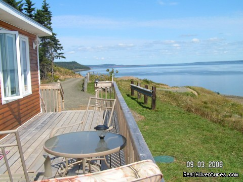 The view from Felicity Cottage's deck. - Ocean Tranquility at Graham's Pioneer Retreat