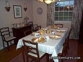 Breakfast Dining Table - Blue Shutters Bed & Breakfast