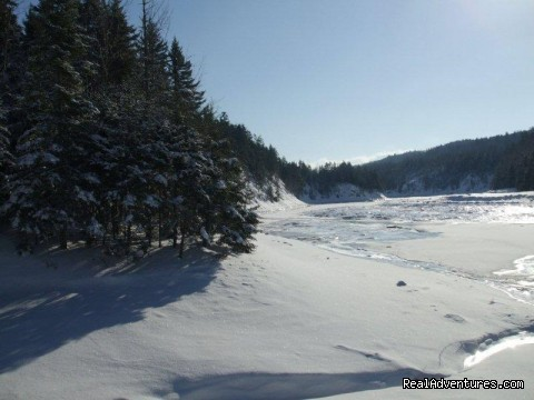 The river in the winter. - Tidal River Ridge Retreat