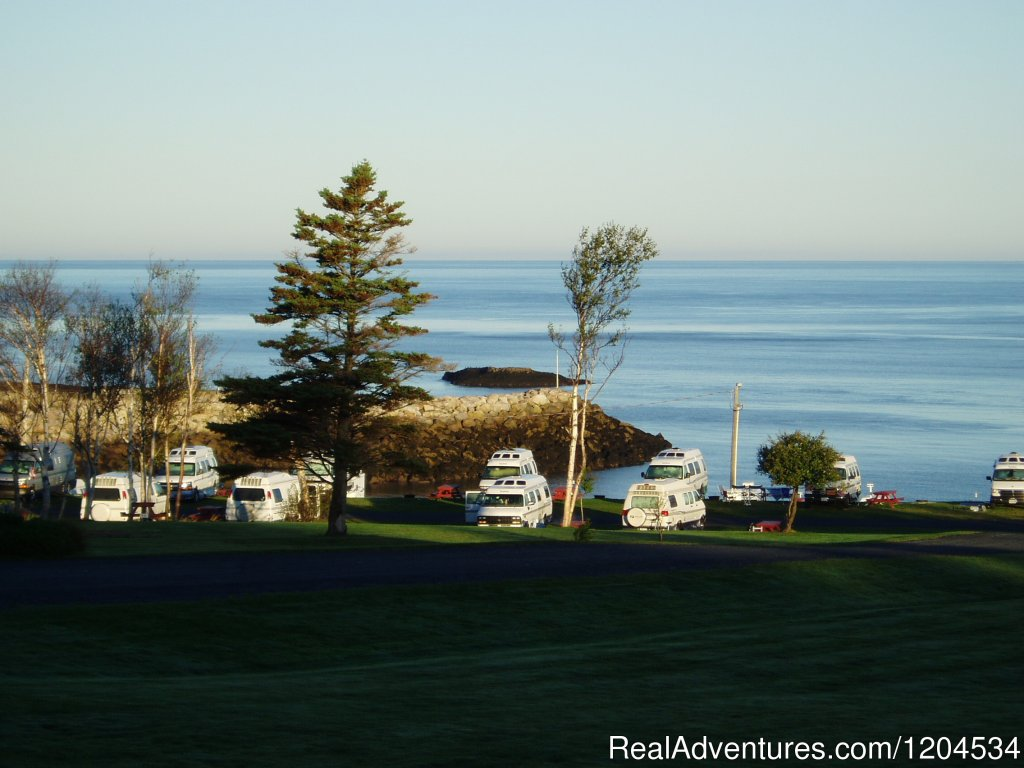 Early morning low tide in Parker's Cove, NS | Image #2/6 | Camp on the beautiful Bay of Fundy in Nova Scotia