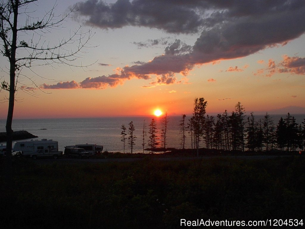 Sunset view from your campsite | Image #6/6 | Camp on the beautiful Bay of Fundy in Nova Scotia