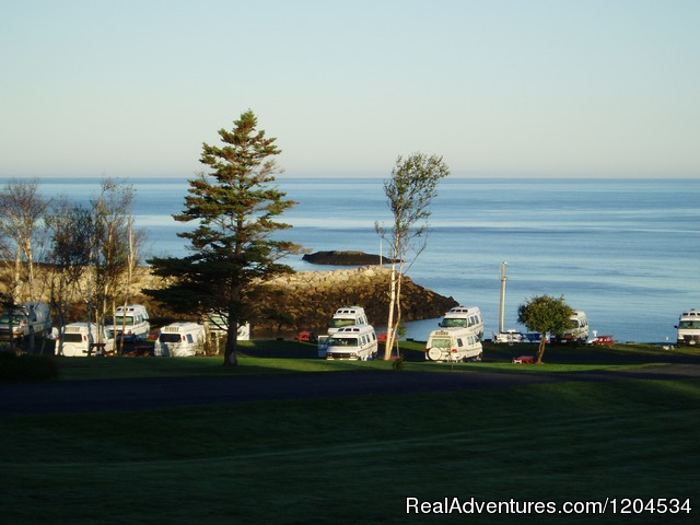 Early morning low tide in Parker's Cove, NS - Camp on the beautiful Bay of Fundy in Nova Scotia