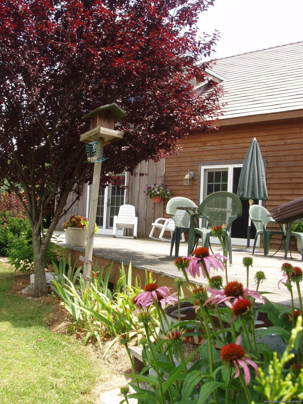 Relax on our back deck | Image #14/21 | Enjoy the Great Outdoors at Fox Hill B&B Suites