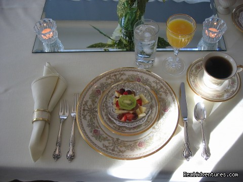Breakfast Setting - The Residence Bed & Breakfast