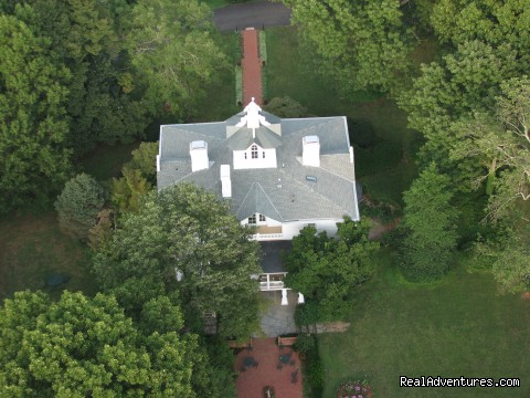 Aerial View of the Mayhurst Manor House - Mayhurst Inn - More than a Perfect Getaway