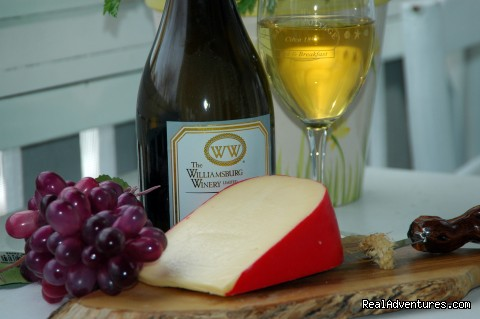 Wine and Cheese at Barclay Cottage B&B - Rekindle Romance in Virginia Beach Bed & Breakfast
