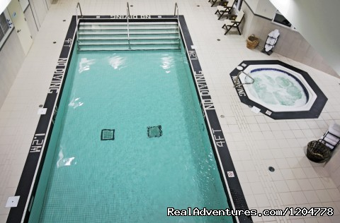 Pool looking down from waterslide - Holiday Inn Express Stellarton
