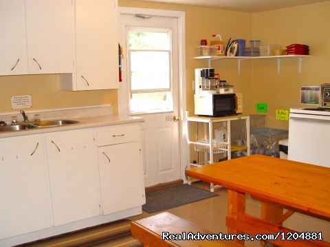 Back Kitchen - Cabot Trail Backpackers Hostel