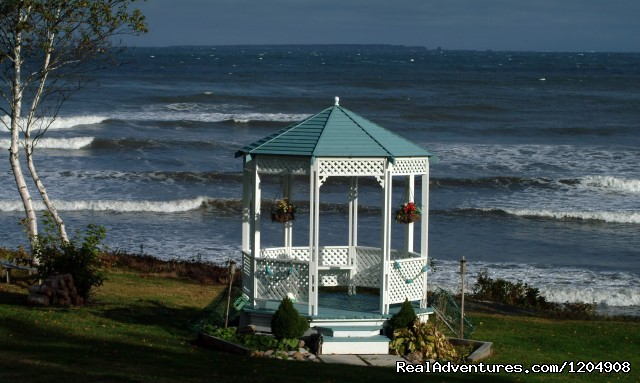 Oceanfront Gazebo, hammocks, picnic tables, etc. (#19 of 26) - Cape Breton Island Resorts Hotel Cottages B&B